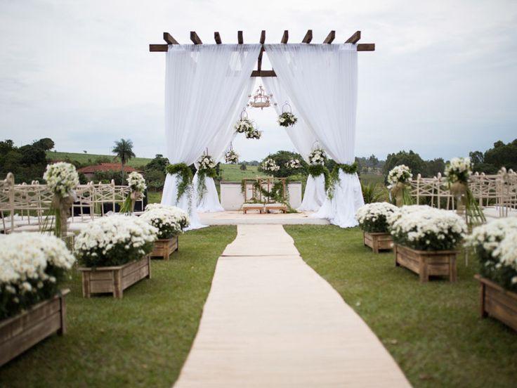 Decoração de Casamento Rústico e no Campo