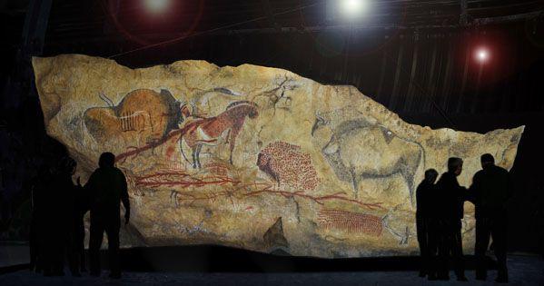 MARSOULAS - restitution du grand panneau au parc de la préhistoire de Tarascon