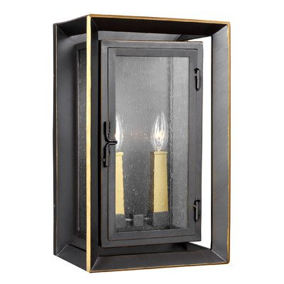 "Laurel Foundry Modern Farmhouse Zelma 2 Light Outdoor Flush Mount Size: 16.25"" H x 10"" W x 8"" D"