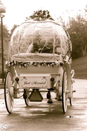 Quite the exit! #wedding #carriage #Cinderella ME ME ME Lol I want this to be me leaving at our wedding