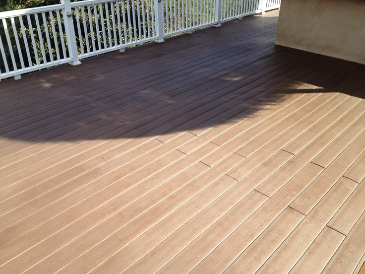 27 best stained concrete images on pinterest stained for Staining trex decking