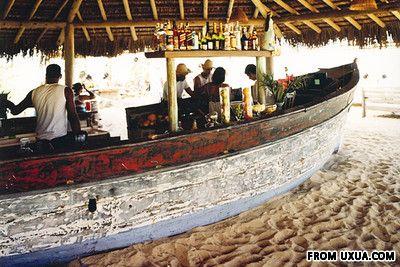 In a boat in Brazil at Uxua Praia-Boat Bar