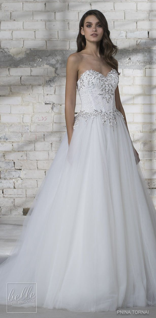 5a44d4faf211 Love by Pnina Tornai for Kleinfeld Ball gown Wedding Dress Collection 2019  | strapless princess bridal gown with heavy beading and tulle skirt |  Fairytale ...