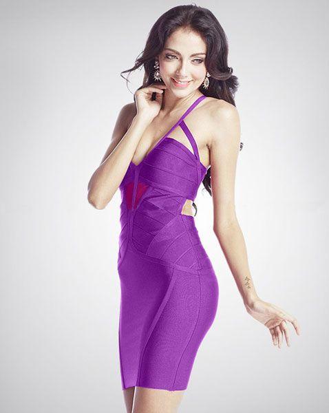 Purple Cutout Bandage Dress http://www.brandbagssale.com/sexy-purple-cutout-bandage-dress-p-1927.html?cPath=1107