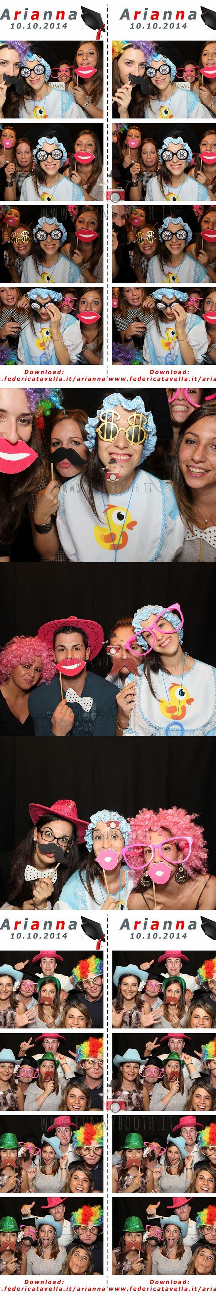 La Cabina Funny è stato l'intrattenimento per la festa di laurea di Arianna! Congratulazioni!!!