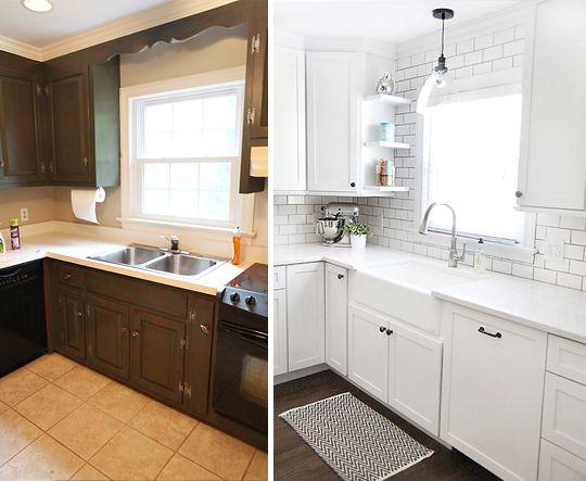 Mid century modern kitchen update mostly diy includes for Modern kitchen updates