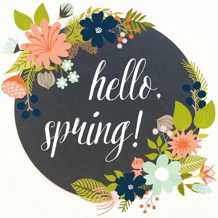 Free Hello Spring Printable - mommylikewhoa.com