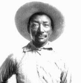 Bill Pickett, Texas cowboy and early rodeo participant, said to have introduced bulldogging.  Born in 1870, died in 1932 after being kicked in the head by a horse.