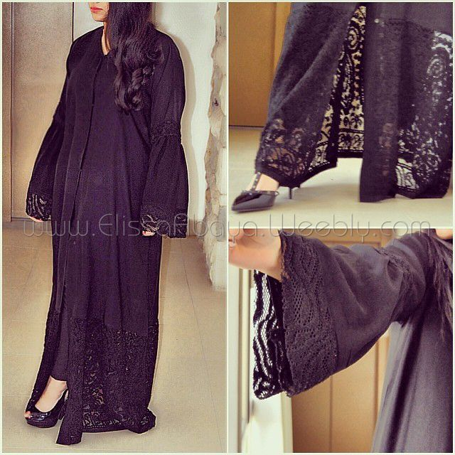 Code 039 #designs #Blackabaya #Lace #abayat #Khaleeji #Hijab #modern #open #closed #Kimono #khaliji #butterfly #everyday #Elegant #Muslim #overhead #cardigan