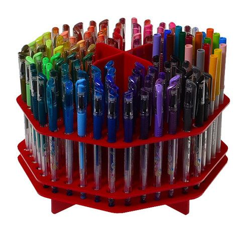 An acrylic organizer that can hold up to 120 markers or pens. | 32 Gifts For People Who Love To Draw