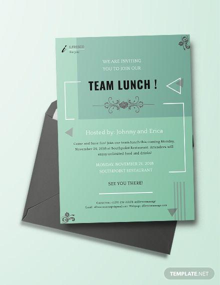 Lunch Invitation Invitation Templates Designs 2019 Lunch