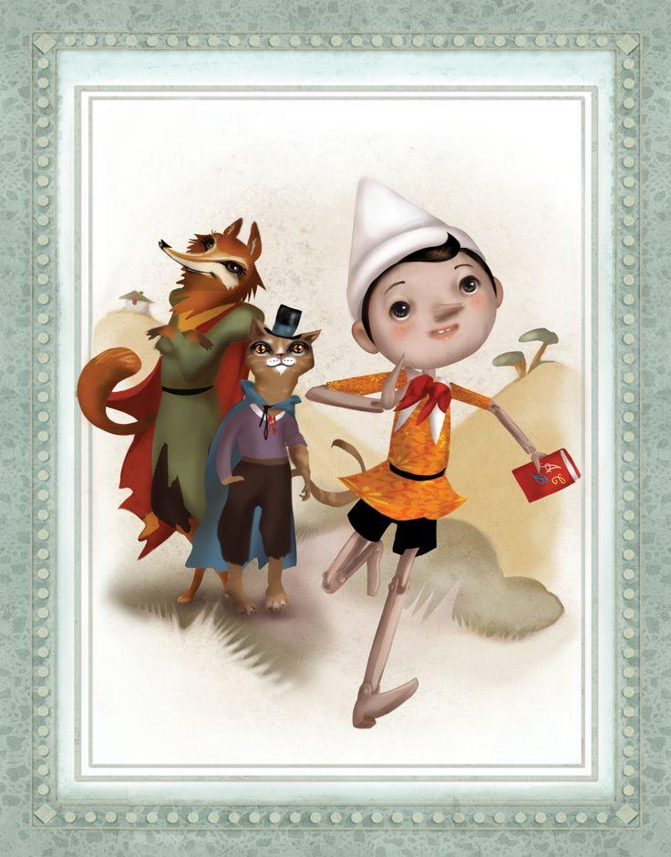 "Mondadori ""biblioteca per ragazzi"" Pinocchio-SIMONA BURSI www.simonabursi.com"