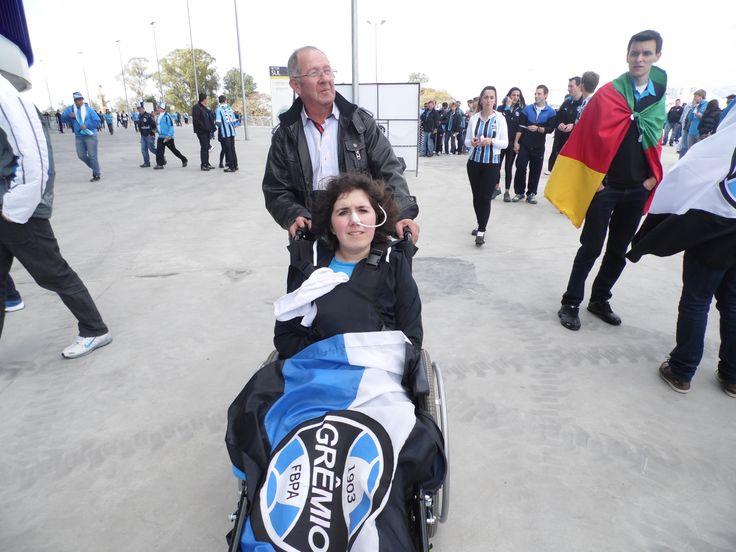 Pai colorado e foi por mim ver o jogo do Grêmio
