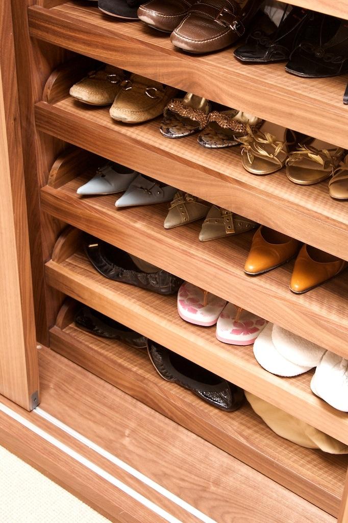 Pull Out Shoe Trays In Wardrobe Minimo Luxury Bespoke