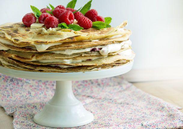 Pandekagekage smager fantastisk, er smuk at se på og får enhver pandekageelskers hjerte til at banke en smule hurtigere - se opskriften her