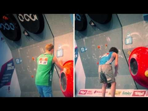 ▶ top male Climbers compared - European Bouldering Championships, Innsbruck 2015 - YouTube