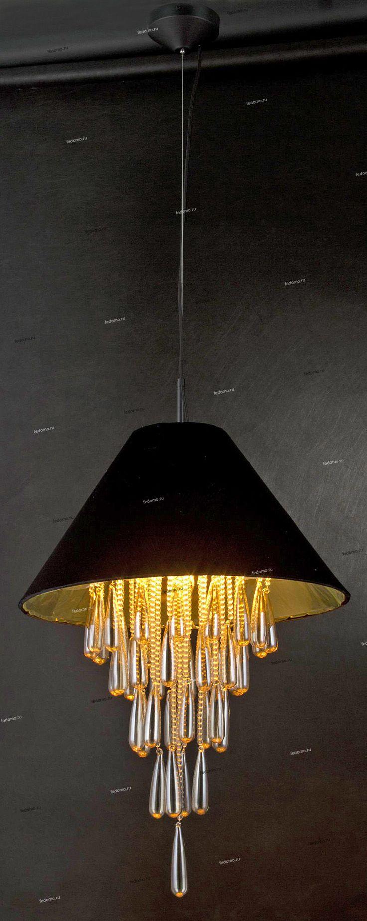 SL280.403.08 Люстра подвесная ST Luce, 8 ламп, чёрный