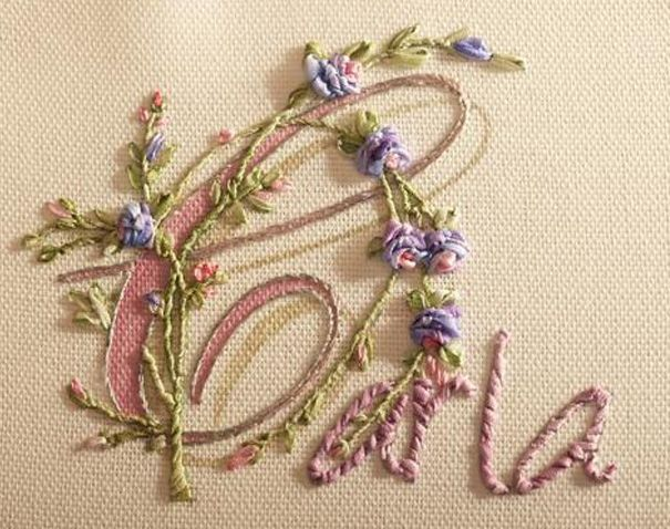 Embroidering the letters of a word, name or sentence | Di van Niekerk