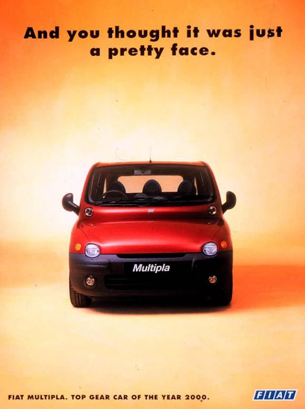 Fiat Multipla - car of the year 2000!