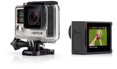 GoPro - HERO4 Silver camera - Pro-quality video + built-in touch display.