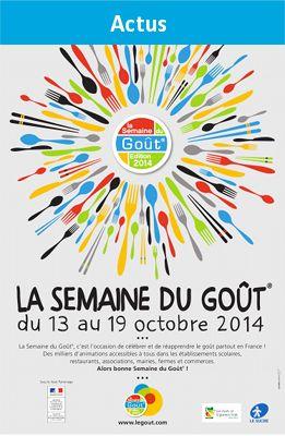 http://www.legout.com/ la semaine du goût, début octobre