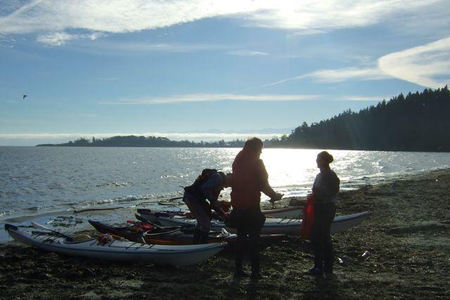 Kayaking out of Metchosin