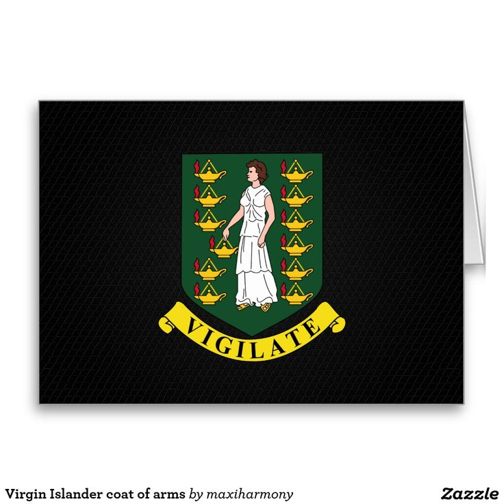 Virgin Islander coat of arms Greeting Card
