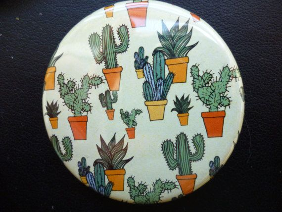 badge patterned cactus 45mm