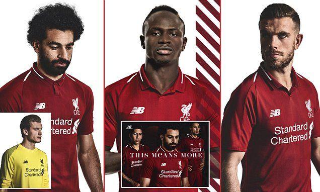 san francisco 93384 c5220 Liverpool stars model new home kit for 2018-19 season | Adam ...