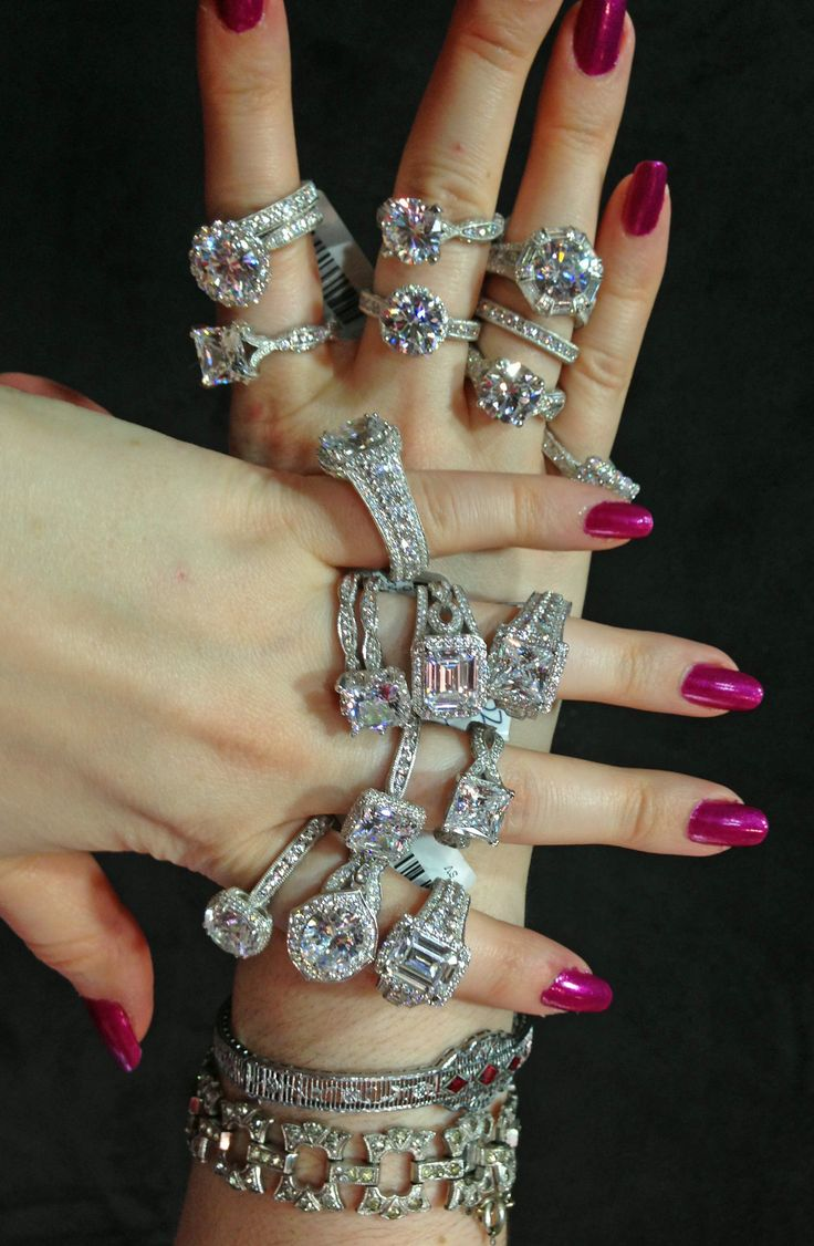 Becky C Of Diamonds In The Library Modeling The Entire Tacori Royal T Diamond  Engagement Ring