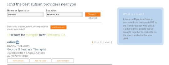 Facebook Login and Team Building Search! - myautismteam