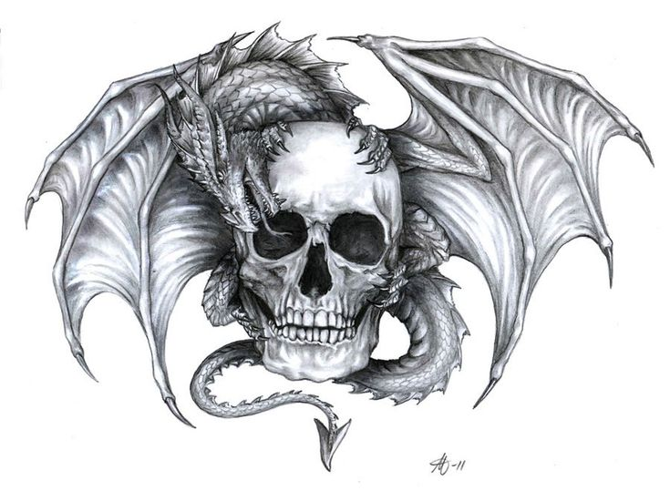 Dragon and Skull Tattoo Designs | Best Tattoo Designs