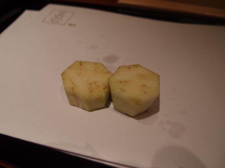 Raw Batten nasu (egg plant) @Tenshichi, 2014/4