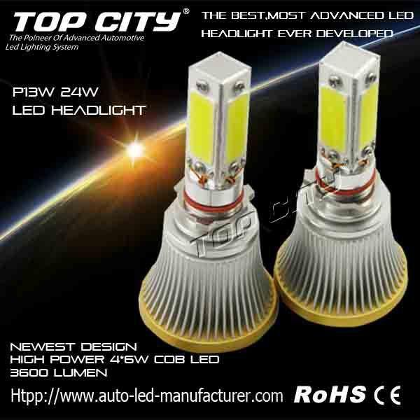 Low Impact-Power Up 3600LM led hedalight P13W 24W led car headlight
