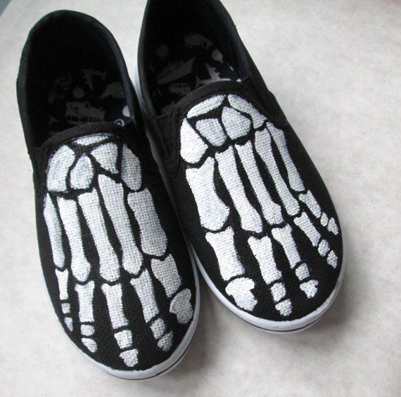 80badf0b47 Toddler Boney shoes, handpainted skeleton shoes, Glow in the Dark ...