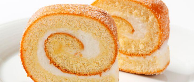 Vanilla Swiss Roll - A slightly retro summer cake that's wonderfully easy to make.