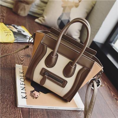 Ladies Luxury Handbags Tote Bags PU Leather Shoulder Bag, Red, Black, Khaki, Orange