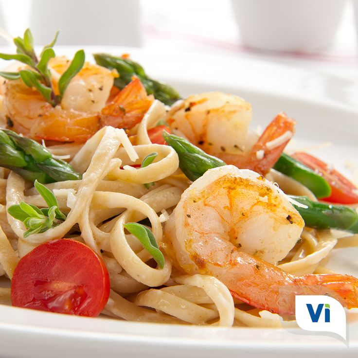 Pasta, veggies, and shrimp - all in one simple dish that is perfect for a portable lunch or quick weeknight dinner!   View the full recipe by Karen Baldree, RD, here: https://vivantehealth.com/mediterranean-shrimp-pasta/  #Pasta #Veggies #Shrimp #Recipe #Healthy #Health #HealthyEating #EatHealthy #Lunch #Dinner #DigestiveHealth #GutHealth #HealthyGut #Wellness