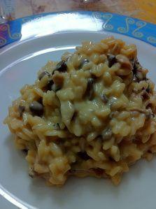 Risoto de shimeji com queijo brie