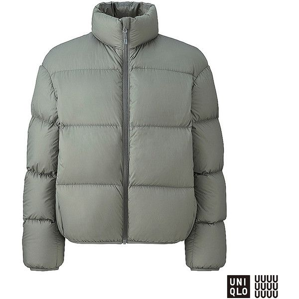 UNIQLO Women's U Lightweight Down Jacket ($50) ❤ liked on Polyvore featuring outerwear, jackets, water repellent jacket, lightweight down jackets, down filled jacket, uniqlo and high collar jacket