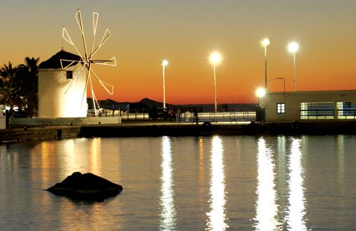 The landmark of #Paros Island: the old windmill right by the port welcomes all vistors
