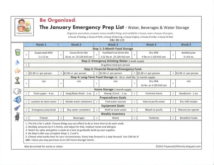 Prepared LDS Family Be prepared\/Couponing\/Food Storage - inventory supply list