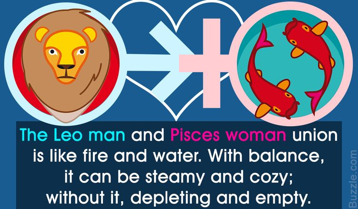 Relationship compatibility between Leo man and Pisces woman