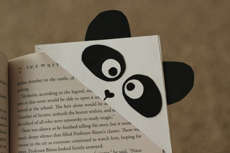 Panda Corner Bookmark. $3.00, via Etsy.