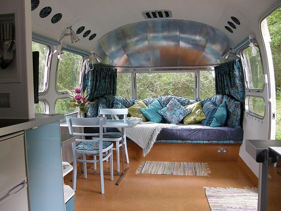 Retro Airstream. Looks so spacious!: