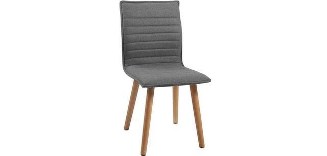 STUHL Eiche massiv Eichefarben, Hellgrau - Eichefarben/Hellgrau, MODERN, Holz/Textil (44/90/53cm) - CARRYHOME
