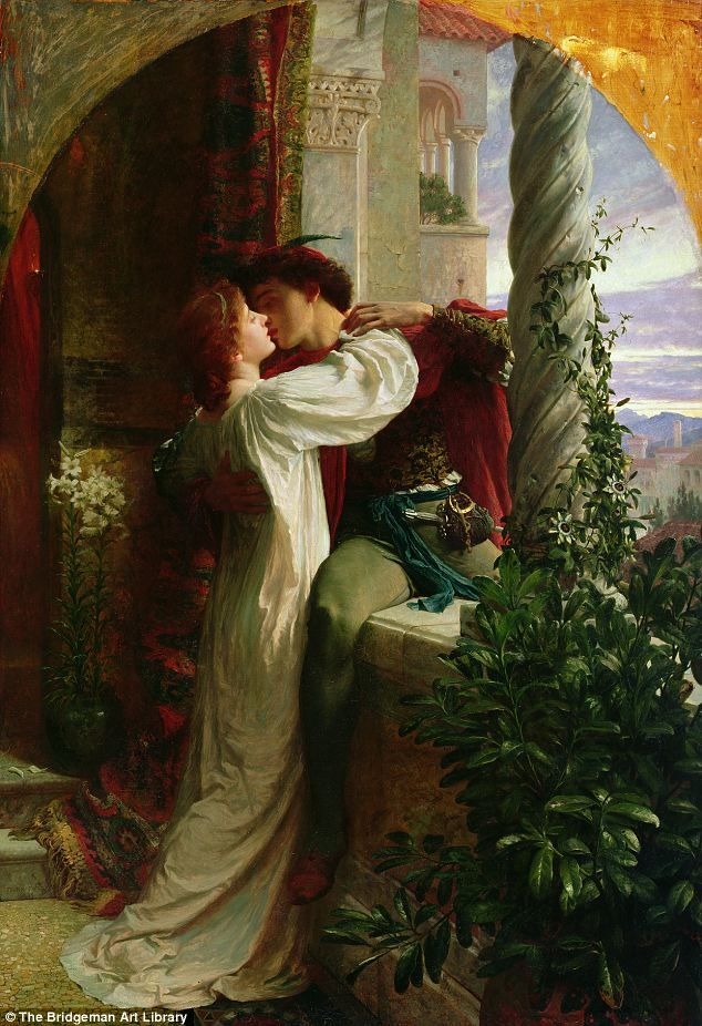 'Romance is a dream that still lives in the hearts of millions': Romeo and Juliet, 1884, depicted in oil on canvas by Frank Bernard Dicksee. It hangs in Southampton City Art Gallery