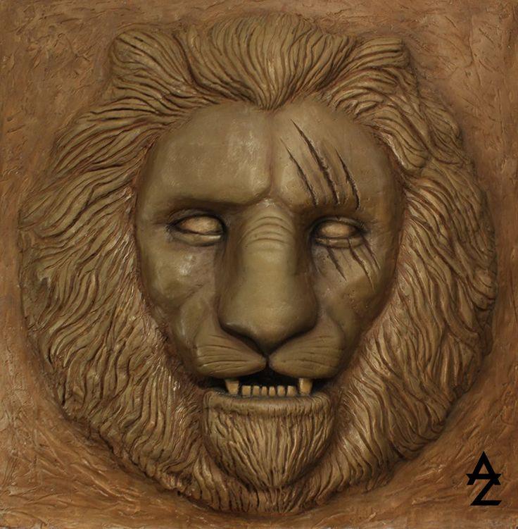 """""""Lion"""" bas-relief, sculpture"""