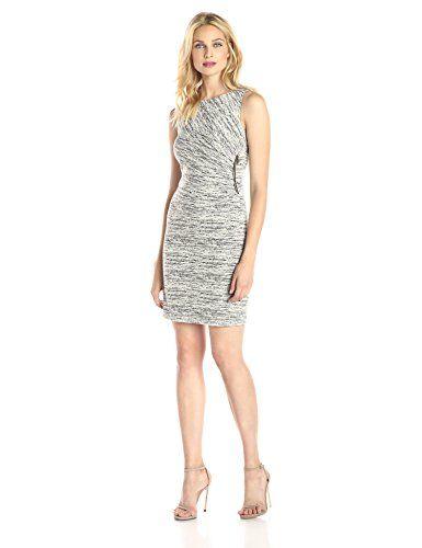 Ivanka Trump Women's Sleeveless Side-Gathered Dress