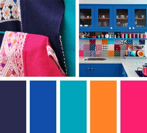 Gama de colores para pared colores para el pasillo de - Gama de colores azules para paredes ...